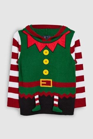 28691b4b4 Buy Green Older Kids Christmas Elf Jumper (3-16yrs) from Next Ireland