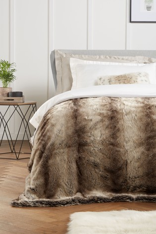 Barnaby Faux Fur Throw