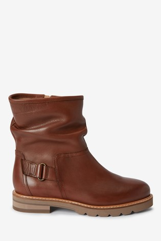 Tan Forever Comfort® Leather Ankle Boots