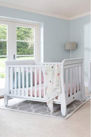 Boori Sleigh Urbane White Cot Bed