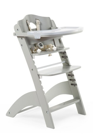 Baby Grow Lambda 3 High Chair with Tray and Cover Stone Grey
