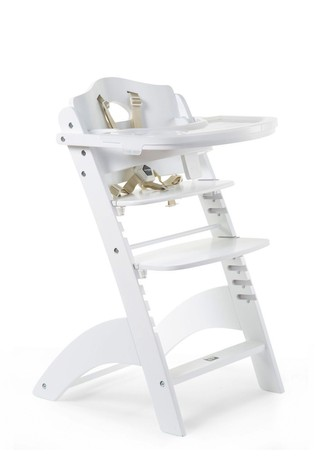 Baby Grow Lambda 3 White High Chair and Cover