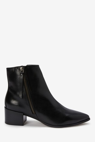 Black Point Zip Chelsea Ankle Boots