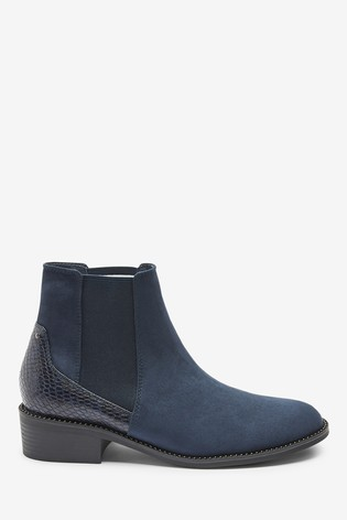 Navy Forever Comfort® Stud Detail Chelsea Boots