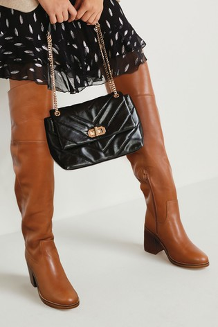 Tan Signature Soft Leather Over The Knee Boots
