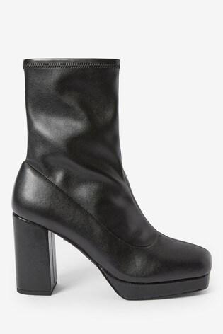 Black Forever Comfort® Square Toe Platform Boots