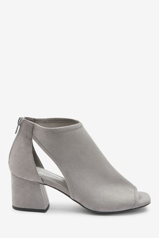 Grey Forever Comfort® Low Cut-Out Shoe Boots