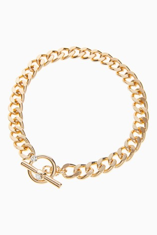 Gold Tone Chunky Chain Anklet