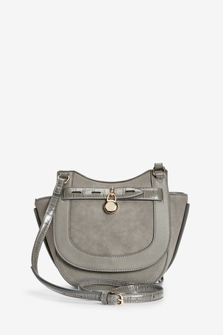 Grey Charm Saddle Bag