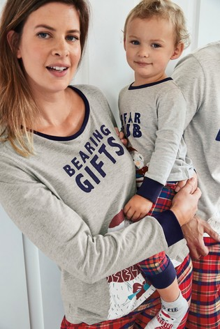 Red Matching Family Womens Christmas Bear Pyjamas