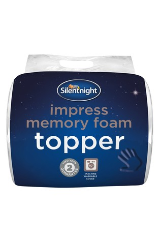 Silentnight 2.5cm Impress Memory Foam Mattress Topper