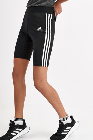 adidas Black Must Have 3 Stripe Cycling Shorts