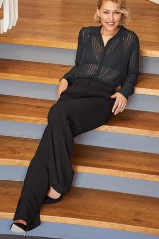 Black Emma Willis Sheer Stripe Shirt