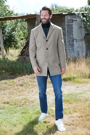 Light Grey Zip Epsom Coat