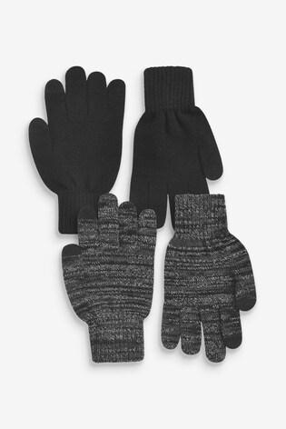 Black/Grey Gloves Two Pack