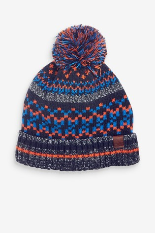 Fairisle Pattern Bobble Hat