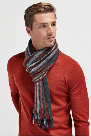 Red/Grey Stripe Scarf