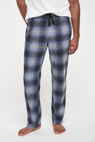 Blue Check Cosy Pyjama Bottoms