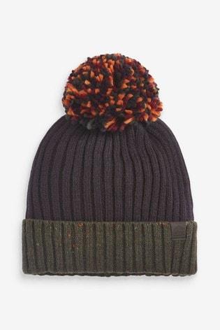 Navy Bobble Hat