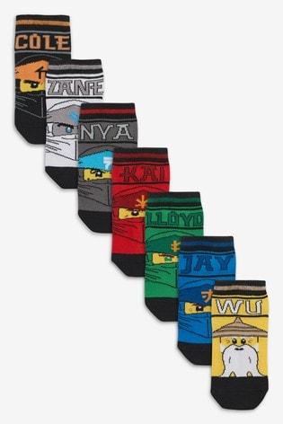 7 Pack Lego Ninjago Trainer Socks (Older)