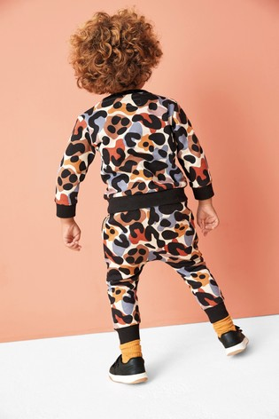 Scandi Camo Crew And Joggers Set (3mths-7yrs)