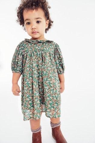 Floral Print Collar Dress (3mths-7yrs)