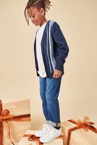 Blue Skinny Fit Five Pocket Jeans (3-16yrs)