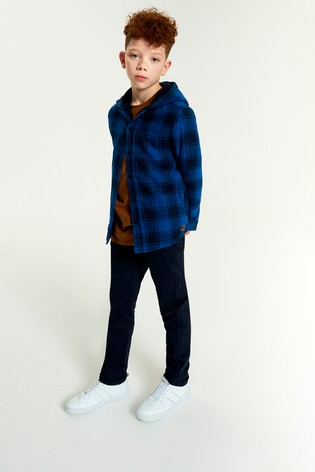 Blue Buffalo Check Borg Lined Shacket (3-16yrs)