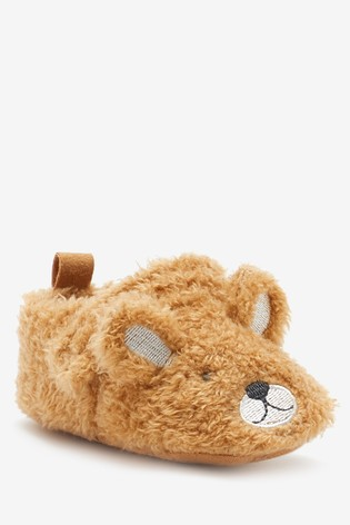 Tan Bear 3D Pram Shoes (0-24mths)