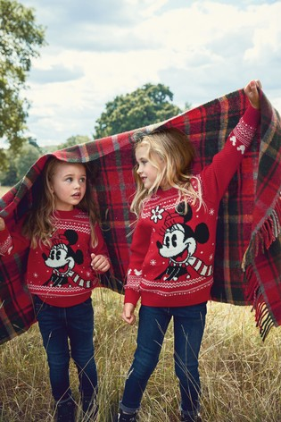 Red Matching Family Kids Christmas Minnie Mouse™ Jumper (3-16yrs)