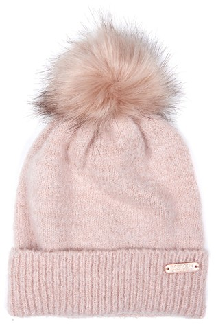 Barbour® International Sparkle Knitted Beanie With Pom
