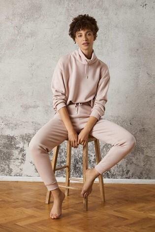 Mint Velvet Pink Drawstring Joggers