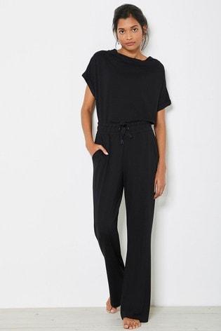 Mint Velvet Black Wide Leg Trousers