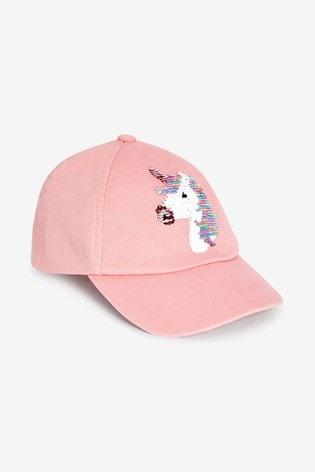 Pink Unicorn Sequin Cap (3-16yrs)