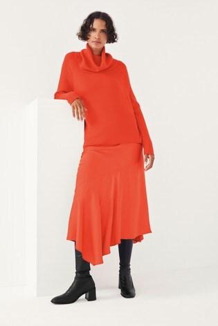 Mix/Marques Almeida Satin Slip Skirt