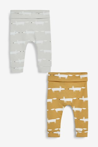 Multi Scion Living Exclusively to Next Mr Fox Leggings Two Pack (0mths-2yrs)