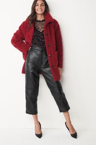 Red Teddy Borg Coat