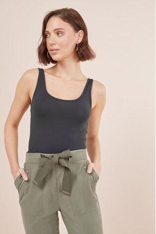 Navy Thick Strap Vest