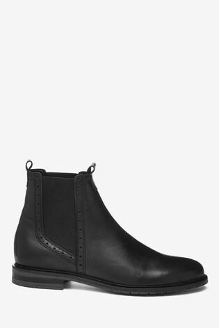 Black Signature Chelsea Boots