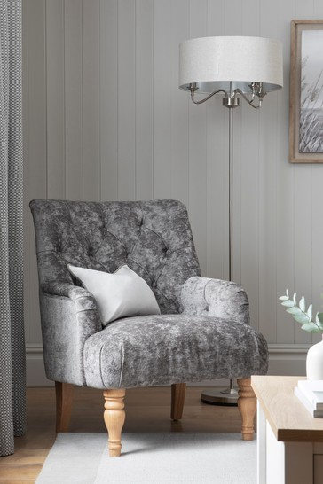 Wolton Button Armchair With Light Legs