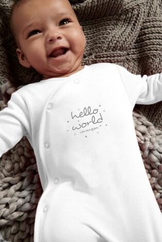 Personalised Hello World Sleepsuit
