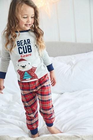 Personalised Bear Cub Family Pyjamas