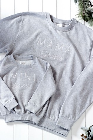 Personalised Est. Mini Matching Jumper by Dollymix