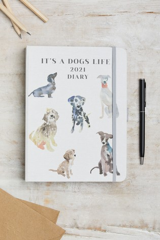 Dog Print Organiser Diary