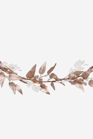 Lit Faux Foliage Garland