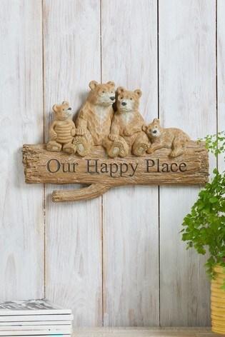Bear Family Wall Plaque