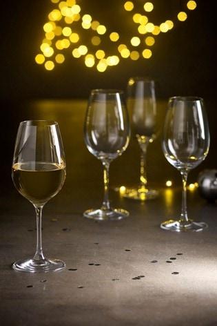 Nova Stemware Set of 4 White Wine Glasses