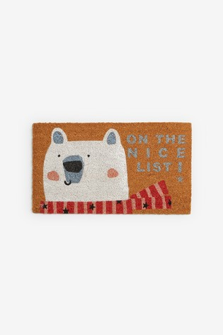 Merry Polar Bear Doormat