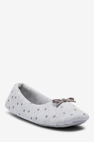 Buy Grey Star Ballerina Slippers from