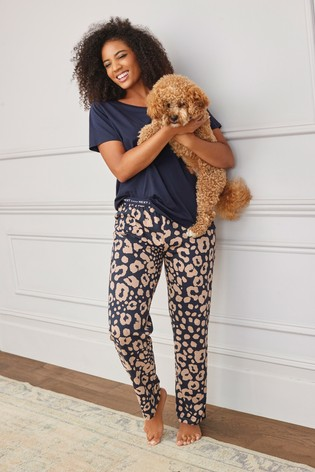 Navy Animal Cotton Pyjamas